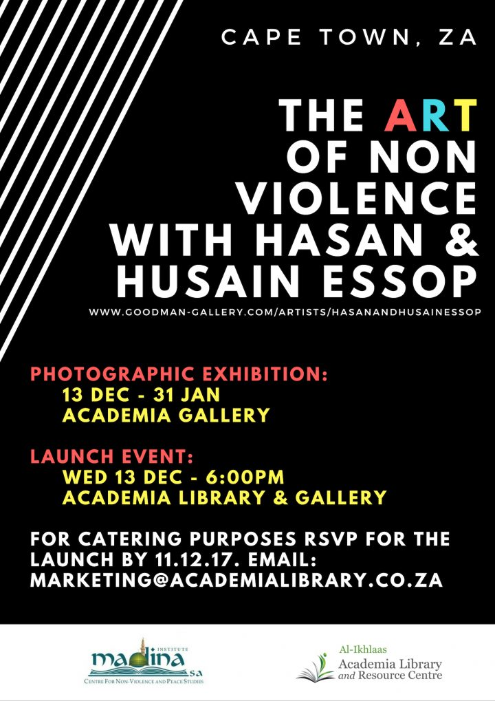 The art of non-violence with Hasan and Husain Essop